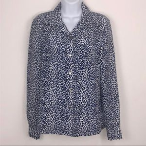 Juicy Couture Blue Animal Print blouse